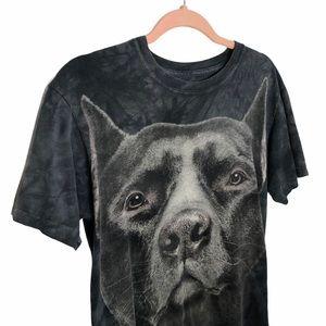 THE MOUNTAIN Pitbull Large Graphic Tie Dye T Shirt